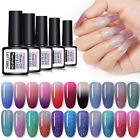 LEMOOC Thermal Color Color Changing UV Gel Polish Glitter Nail Art Gel