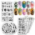 PICT YOU Nail Art Stamping Plates Rectangle Geometric Line Wave Pattern Stamps