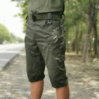 Men Tactical Military Cargo Shorts Cotton Waterproof Hiking Outdoor Short Pants