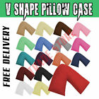 V Shaped Pillow Case Cover For Nursing Pregnancy Maternity Orthopaedic Support
