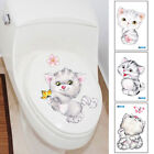 Bowering Home Decor Room Decor Wall Sticker 20*30cm Cute Cat Kitty Bathroom Toilet Removable 1PC