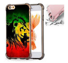 For iPhone X 6 6s 7 8 Phone Case Cover  Red-Green-Yellow Rasta Reggae #1551