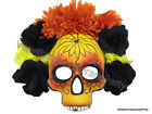 Day of the Dead Flower Skull Masquerade Mask Spanish Halloween Costume Wall Deco