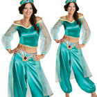 2019 Aladdin Costume Princess Jasmine Cosplay Outfit Women Halloween Fancy Dress