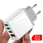 3-Port USB Phone Charger LED Display Wall Fast Charging Adapter EU/US/UK Plug