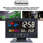 Led Digital Projection Alarm Clock Loud Snooze Calendar Weather Color Display KW
