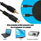 RCA AV Video Audio Male To Female M/F Audio Composite Extension Cable KW