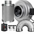 iPower 4/6/8 Inch Inline Fan Carbon Filter Ducting Combo w/ Speed Controller
