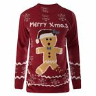 Mens Gingerbread Christmas Jumpers Xmas Novelty Rude Santa Elf Snowman Sweater
