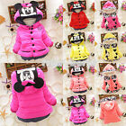Baby Girls Kids Minnie Mickey Mouse Hoodies Jacket Coat Winter Outerwear Clothes