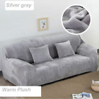 UK Sofa Covers Easy Fit Stretch Protector Soft Couch Cover Thick Plush Velvet