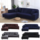 L-Shape 1-4Seat Stretch Elastic Fabric Sofa Cover Sectional /Corner Couch Cover
