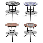 60cm Mosaic Bistro Table Garden Balcony Outdoor Round Cafe Coffee Tabletop New
