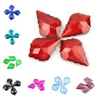 10pcs 22mm Crystal Glass beads Maple leaf bead For DIY Jewelry making Earring