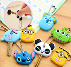 Cute Key top Cover Chain Cap Keyring Xmas Gift Topper Cartoon Minion Panda Tag
