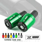 CNC Handle Bar Grips End Weights Caps Plugs Slider for KAWASAKI Z1000 Z1000SX