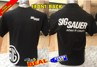 sig sauer t shirt black guns 2nd amendment fron and back image