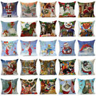 Christmas Cotton Linen Pillow Case Sofa Throw Cushion Cover Home Decor Xmas Gift image