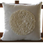 White Vinage Style Frills 18*x18* Faux Suede Pillows Cover - Vintage Bloom