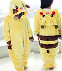 Unisex Animal Fleece Pajamas Cosplay Costume Outfits Nightwear Slippers Shoes