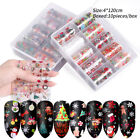 Halloween Christmas Nail Foils Holographicss Transfer Stickers Decals Nail Tips