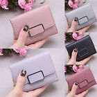 Womens Short Small Money Purse Wallet Ladies Leather Trifold Coin Card Holder US image