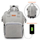 Waterproof Nappy Diaper Bag for Mom Maternity USB Charging Travel Backpack