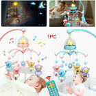 Baby Crib Mobile Musical Bed Bell With Controller Music Night Light Toy R4C5K
