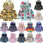 Toddler Kid Boy Girls Waterproof Windproof Hooded Rain Coat Jacket Outerwear US