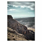 Tribal Girl Landscape Poster Mountain Canvas Print Nordic Style Wall Art Decor