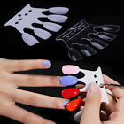 10Pcs False Nail Art Tips Round Color Card Practice Display Full Cover Tools