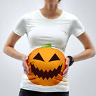Pregnant Women Halloween Top Pumpkin Maternity Short Sleeve Party T-Shirt Blouse