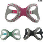 Portable Rhinestone Training Adjustable Artificial Leather Dog Harness Outdoor
