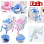 Toddler Toilet Chair Kids Potty Training Seat with Step Stool Ladder for Child image