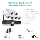 ANRAN Wireless Security Camera System 8CH 1080P CCTV Waterproof with 2TB HDD NVR