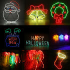Neon Led Light Heart Sign Night Lamp Standing Decor Wall Home Xmas Halloween O
