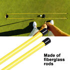 2PCS Portable Golf Alignment Sticks Practice Exercice Rods Training Aid UK STOCK