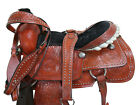 TOOLED LEATHER WESTERN SADDLE 17 16 ROPING RANCH CUSTOM MADE ROPER SHOW TACK SET