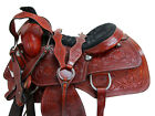 16 17 TRAIL SADDLE FLORAL TOOLED LEATHER HORSE PLEASURE WESTERN HORSE PACKAGE