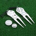 1PC Golf Club Divot Lawn Green Repair Tool Fork Prong with Magnetic Ball Marker