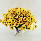 Fake Sunflower Silk Flower Artificial 22 Head Bouquet Home Wedding Decor 3pcs