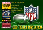 LOS ANGELES CHARGERS NFL FOOTBALL SPORTS TICKET INVITATION $18.0 USD on eBay