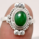 Natural Nephrite Jade - Canada 925 Sterling Silver Ring Jewelry s.7.5 SDR51872