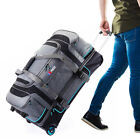 30' Large Drop Bottom Wheeled Duffel Bag Travel Gear Suitcase Luggage Heavy Duty