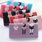 Cute Cats Pattern Women Girl's Leather Clutch Wallet Phone Card Holder Handbags image