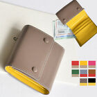 NUA DAILY TRIFOLD SM COIN CARD POCKET WALLET CASE REAL PEBBLED COWHIDE LEATHER image