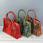 Vintage Women Lady Leather Handbag Embossed Peony Crossbody Shoulder Bag Purse