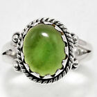 Nephrite Jade - Canada 925 Sterling Silver Handmade Ring Jewelry s.8 SDR40861