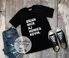 Brian Nick AJ Howie Kevin T Shirt - baby youth adult - backstreet boys
