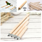 Wooden Stick Pet Bird Parrot Chew Toys Paw Grinding Rack Cage Stand Perches